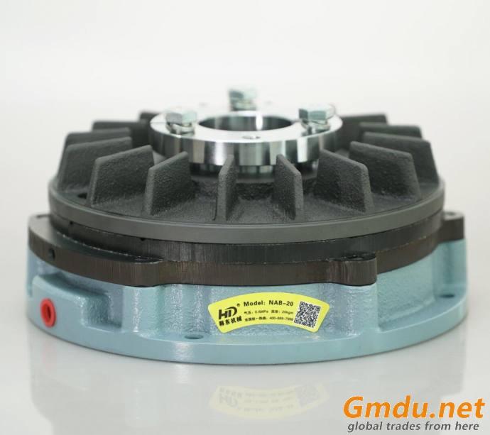 NAB air brake in unwinding machine