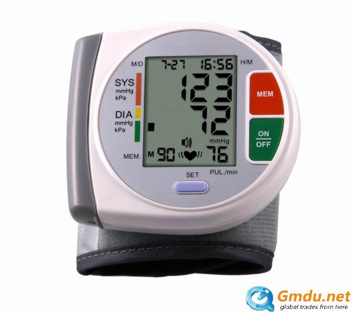 Electronic talking Digital wrist blood pressure monitor