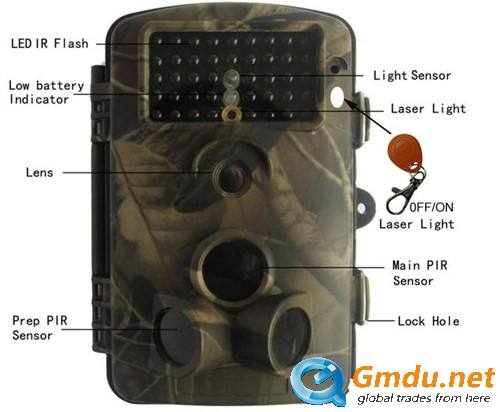 Color CMOS Sensor Wildview 940nm Trail Camera Waterproof IP54
